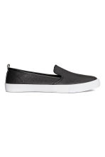 Slip-on trainers - Black - Ladies | H&M IE 1